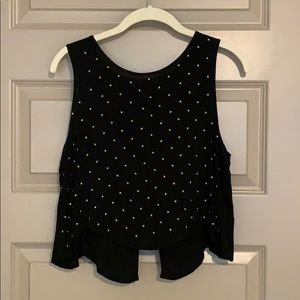 Open Back Tank with Gold Studs
